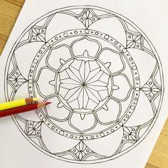 Mandala Namaste Hand Drawn Adult Coloring Page от MauindiArts