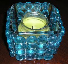 DIY Glass Gem Candle Holder