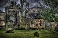 The most haunted cemetery in Edinburgh, Scotland- Greyfriar Cemetery. Greyfriar's Cemetery in Edinburgh has a centuries-old reputation for being haunted. Its gruesome history includes witchcraft, body-snatching, desecration, corpse dumping, and live burial.