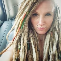 Beautiful blonde dreadlocks, although I would get them a TINY bit thinner