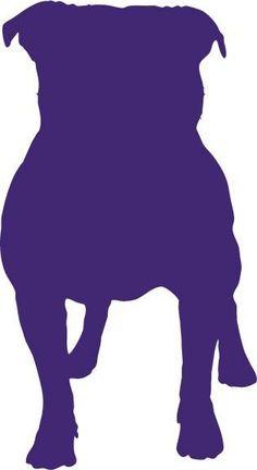 British Staffordshire Bull Terrier Dog vinyl decal car sticker