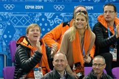 10 February 2014 King Willem-Alexander and Queen Maxima attend the Short Track on day 3 of the Sochi 2014 Winter Olympics at Iceberg Skating Palace in Sochi, Russia