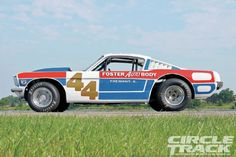 1970 Mustang Dirt Late Model Side Profile 1966 Ford Mustang, Mustang Fastback, Classic Trucks Magazine, Late Model Racing, Sports Car Racing, Drag Racing, Classic Race Cars, Shelby Gt, Old Race Cars