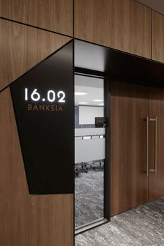 Leo Cussen Centre for Law Offices - Melbourne - Office Snapshots Industrial Office Design, Office Interior Design, Office Interiors, Law Office Design, Door Signage, Office Signage, Office Branding, Clinic Design, Office Walls
