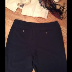 George me Dress Pant (black) Polyester/rayon/spandex blend. Excellent used condition. Two back slit pockets with buttons. Slimming fit. George Pants Trousers