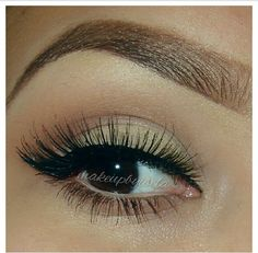 Eyebrows and eye makeup
