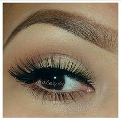 Eyebrows and eye makeup