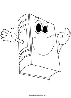 book coloring page - Book Coloring Page