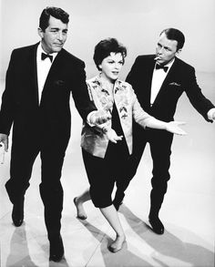 Dean, Judy, and Frank rehearsing for The Judy Garland Show, 1962