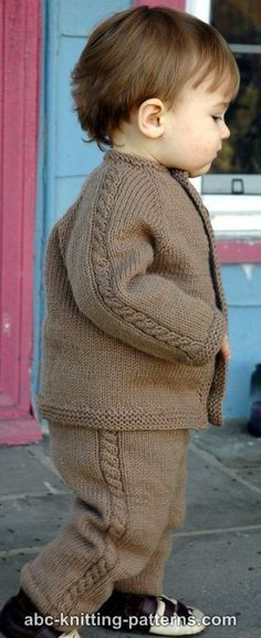 ABC Knitting Patterns - Easy Cable Seamless Child's Cardigan.