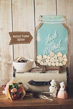 Bottle of Hearts Wedding Guest book Alternative by StrangelyYours