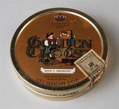 tabaksblik met los deksel van Van Rossem, productnaam Troost (Golden)