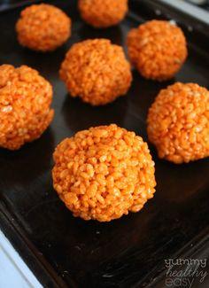 Easy Pumpkin Krispies Treats - Yummy Healthy Easy