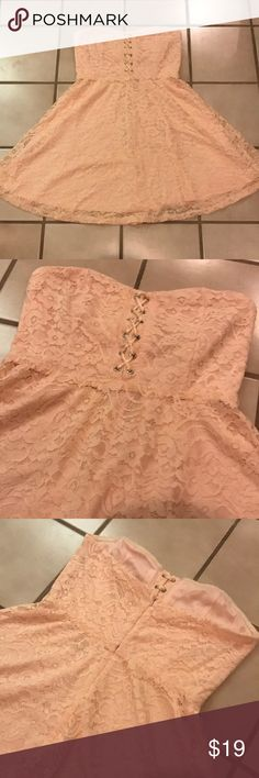 cee486c6f1cb Forever 21 Pink Lace Strapless Dress Brand New With Tags - Forever 21  Strapless Criss Cross