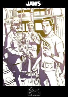 Brody, Hooper and Quint by ~dusty-abell on deviantART