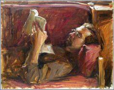 Man Reading, Karen Offutt
