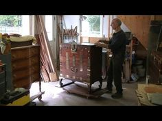 Restoring a Korean Chest - Thomas Johnson Antique Furniture Restoration - YouTube