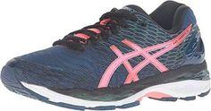 ASICS Women's Gel-Nimbus? 18 Poseidon/Flash Coral/Black Sneaker 7.5 B (M)