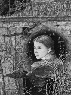 """The Haunting"" A pencil drawing by Melissa Mary  Duncan"