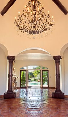 Spanish colonial home entrance (Orlando, Florida   Fusilier Realty Group)