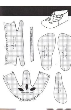 Make Doll Shoes — Yandex.Disk Doll Shoe Patterns, Craft Patterns, Doll Crafts, Diy Doll, Old Shoes, 18 Inch Doll, Ball Jointed Dolls, Hat Making, Digital Pattern