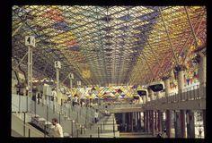 Vista interna da Antiga Estação Rodoviária de São Paulo 1981