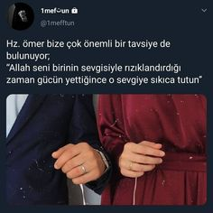 """Omar also offers us a very important advice; """"When Allah sustains you with the love of someone, when the power is enough, that love is . Believe Quotes, Hope Quotes, Faith Quotes, Quran Quotes Love, Believe In Miracles, Allah Islam, Cute Couple Pictures, God Loves You, Meaningful Words"""