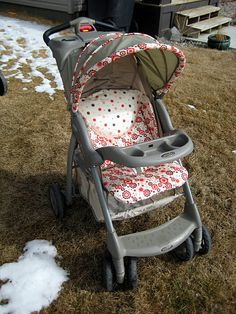 Stroller makeover - Find a great stroller at a consignment sale and brighten it up.