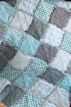 Baby Boy Gift Rag Quilt by justluved
