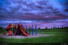 Evening sunset in the park. Peterborough, Canada.