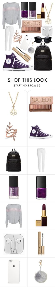 """""""Geometric! #90"""" by worldofflowers ❤ liked on Polyvore featuring Lulu Frost, Urban Decay, Anne Sisteron, Converse, Marc by Marc Jacobs, Paige Denim, NARS Cosmetics, Sweaty Betty, Tom Ford and Stila"""