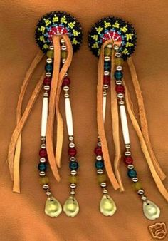 Native American indian hair feathers.