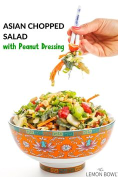 The best veggie-packed, healthy salad recipe perfect for easy dinners, quick meal prep, and delicious side dishes #mealprep #salad #healthy #easy Chef Recipes, Kitchen Recipes, Asian Recipes, Healthy Salad Recipes, Vegetarian Recipes, Healthy Meals, Asian Chopped Salad, Pinterest Recipes, Pinterest Food