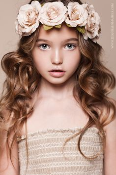 Where are the big eyed boys?  Russian child model Anastasia Bezrukova.