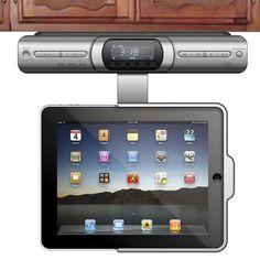 The Under Cabinet iPad Dock - Hammacher Schlemmer
