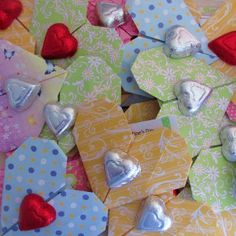 Sweet Chocolate Origami Valentines