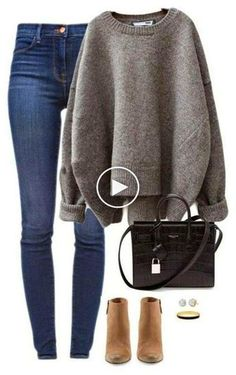 36 stylish sweater outfit for the cold winter . - 36 stylish sweater outfit for the cold winter …, - Winter Outfits For Teen Girls, Cute Fall Outfits, Winter Outfits For Work, Casual Winter Outfits, Outfits For Teens, Rock Outfits, Casual Fall, Winter Outfits Women, Look Fashion