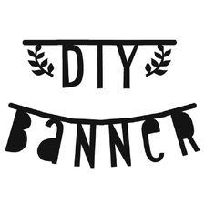 Garland . DIY Letter Banner - Handwriting Style / Black