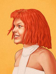 Retratos de celebridades em efeito granulado por Mike Mitchell