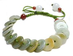 """Rolling in Money Elegant Green Jade Bracelet, 6-10""""- Fortune Feng Shui Jewelry * Be sure to check out this awesome product."""