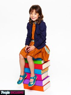 The actress who plays Lily on Modern Family, Aubrey Anderson-Emmons, wearing Livie & Luca Pio Pio shoes on People.com!