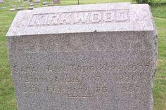Sarah Ann Harkness Kirkwood (1830 - 1907)  Wife of Thomas Kirkwood Mother of John A. Kirkwood (Mildred Kirkwood Hagg's father)
