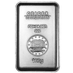 100 Gram Geiger Silver Security Line Bars from JM Bullion™
