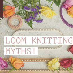 Common Myths In Loom Knitting!Common Myths In Loom Knitting! Loom Knitting Stitches, Bamboo Knitting Needles, Knifty Knitter, Loom Knitting Projects, Cross Stitches, Knitting Ideas, Diy Knitting Loom, Finger Knitting, Arm Knitting