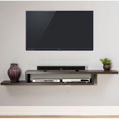 "Martin Home Furnishings Ascend 72"" Asymmetrical Wall Mounted TV Component Shelf"