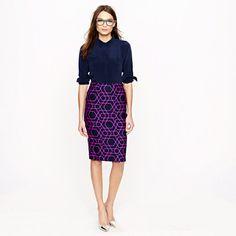 No. 2 pencil skirt in geometric print  #womensfashion #office #style #fashion #business  http://www.roehampton-online.com/?ref=4231900