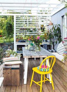 Se hvordan du bygger utekjøkken steg for steg - viivilla.no Outdoor Kitchen Plans, Bbq Area, Outdoor Furniture Sets, Outdoor Decor, Barbacoa, Cottage, Backyard, Norway, Plants