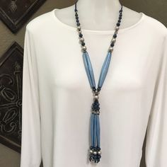 Chicos necklace Long tassel style necklace Chico's Jewelry Necklaces