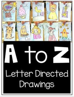 Directed Drawings for all the letters of the alphabet!  I have used them in my kindergarten and first grade classrooms as an introduction or a review of the letters of the alphabet.  I have done them in journals with labels (that are included) also.   If you are interested in monthly themed directed drawings, check out my: Directed Drawings for the Entire Year Bundle This is the pack for your ABC drawings with step by step instructions and video tutorials!