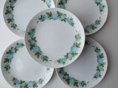 Vintage Noritake Blue Orchard Bread and Butter by thechinagirl